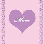 Mum Lilac Heart by CreativeEm