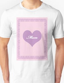 Mum Lilac Heart T-Shirt