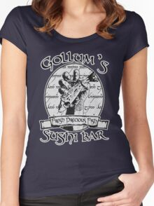 Gollum's Sushi Bar - Fresh Precious Fish Women's Fitted Scoop T-Shirt