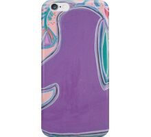 Purple Figure with Flowers iPhone Case/Skin