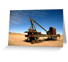 Abandoned rolling stock, Uyuni Greeting Card