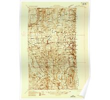 Maine USGS Historical Map Mars Hill 806880 1936 48000 Poster