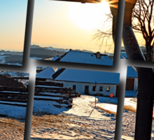 Sunny winter afternoon at the farm | landscape photography Sticker