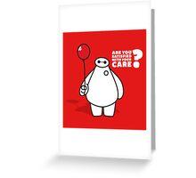 Nurse Baymax Greeting Card