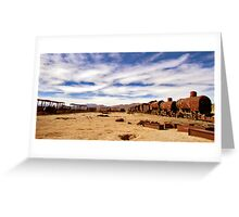 Ghost trains, Uyuni Greeting Card