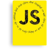 JavaScript - One language to rule them all Canvas Print