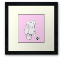 Big Hero 6 - Baymax (Pink) Framed Print