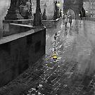 BW Prague Charles Bridge 01 by Yuriy Shevchuk
