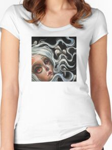 White Spirits :: Pop Surrealism Painting Women's Fitted Scoop T-Shirt