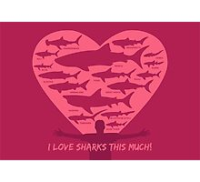 Love Sharks This Much design Photographic Print