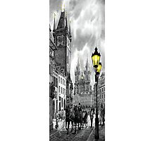 BW Prague Old Town Squere Photographic Print