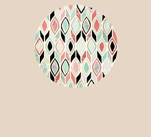 Patchwork Pattern in Coral, Mint, Black & White T-Shirt