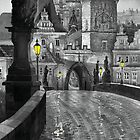 BW Prague Charles Bridge 03 by Yuriy Shevchuk