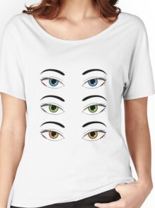 Colorful eyes Women's Relaxed Fit T-Shirt