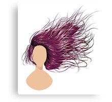 Flowing Hair Canvas Print