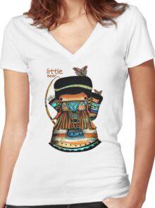 Little Bear TShirt Women's Fitted V-Neck T-Shirt