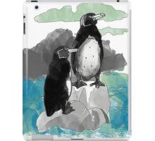 Penguins Watercolored iPad Case/Skin