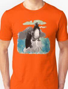 Penguins Watercolored T-Shirt