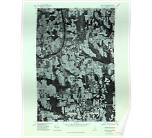 Maine USGS Historical Map Mars Hill NW 806883 1975 24000 Poster
