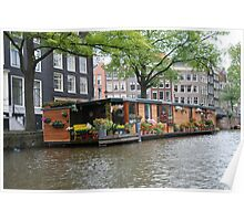 More houseboats in Amsterdam Poster