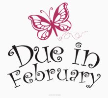 'Due in February' T-Shirts, Hoodies, Accessories and Gifts by Albany Retro