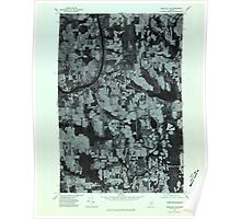 Maine USGS Historical Map Mars Hill NW 806884 1975 24000 Poster
