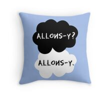 allons-y? allons-y. Throw Pillow
