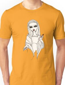 Our Lady of the Bleeding Thighs II [tee colours other than black] Unisex T-Shirt