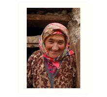 Face with a history, Tajikistan Art Print