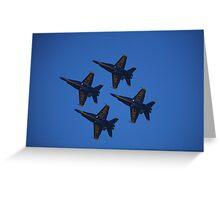 US Navy Blue Angels at San Francisco Fleetweek 2008 Greeting Card