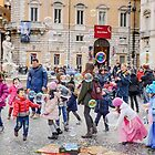 Bubbles of fun, Piazza Navona, Rome, Italy by Andrew Jones
