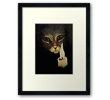 Cat & Candle Framed Print