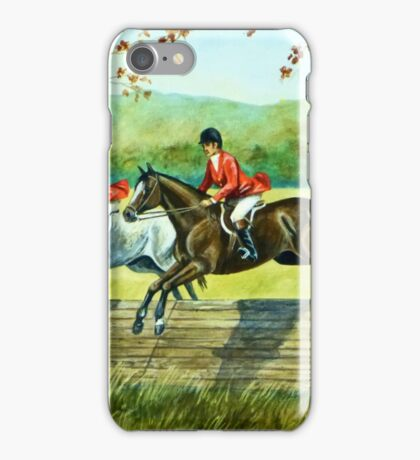 Horses Jumping Coop iPhone Case/Skin
