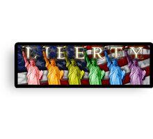 Rainbow Liberties Canvas Print