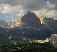 Evening at Cinque Torri by Lenka