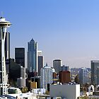 Seattle Washington Skyline and Puget Sound by Jeff Hathaway