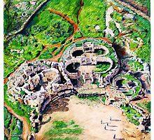 Hagar Qim ( Nealithic Temple ) Malta by Joseph Barbara