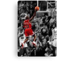 Michael Jordan flying toward the hoop Canvas Print