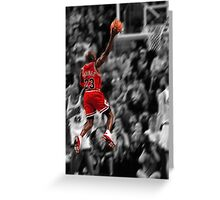 Michael Jordan flying toward the hoop Greeting Card