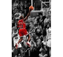 Michael Jordan flying toward the hoop Photographic Print