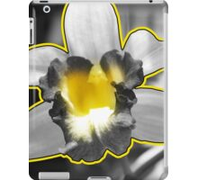 Yellow Black White Grey Orchid iPad Case/Skin