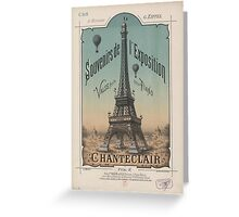 Eiffel Tower 1889 Exposition Poster Paris, France Greeting Card