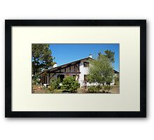 Landes house Framed Print