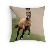 Prancing gold Throw Pillow