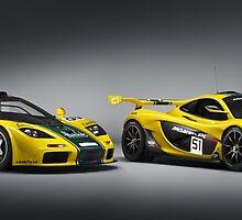 Mclaren F1 GTR Mclaren P1 GTR by djoc444