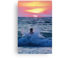 Body Surfing Canvas Print