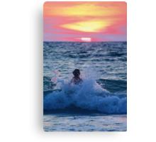 Body Surfing Canvas Print
