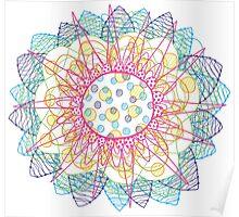 Flower Burst Mandala Poster