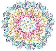 Flower Burst Mandala Photographic Print