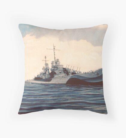 USS San Juan - Cruiser Throw Pillow
